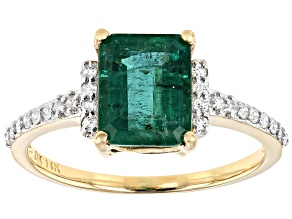 Zambian Emerald 14k Yellow Gold Ring 2.08ctw