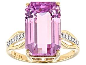 Pink Kunzite 14k Yellow Gold Ring 9.97ctw