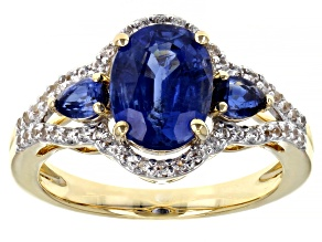 Blue Kyanite 14k Yellow Gold Ring 2.74ctw