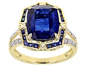 Blue Kyanite 14k Yellow Gold Ring 3.46ctw