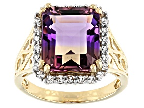 Bi-Color Ametrine 14k Yellow Gold Ring 6.22ctw