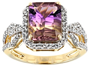 Bi-Color Ametrine 14k Yellow Gold Ring 3.39ctw