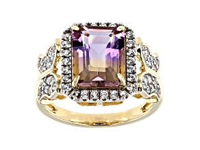 Bi Color Ametrine 14k Yellow Gold Ring 3.32ctw.