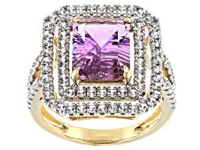 Bi-Color Ametrine 14k Yellow Gold Ring 3.60ctw