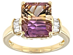 Bi-Color Ametrine 14k Yellow Gold Ring 4.24ctw
