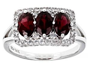 Red Garnet 14k White Gold Ring 1.73ctw