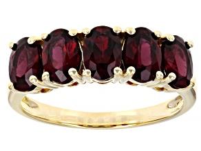 Red Anthill Garnet 14k Yellow Gold Ring 2.38ctw