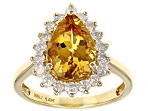 Yellow Beryl 14k Yellow Gold Ring 2.87ctw