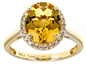 Yellow Beryl 14k Yellow Gold Ring 2.53ctw