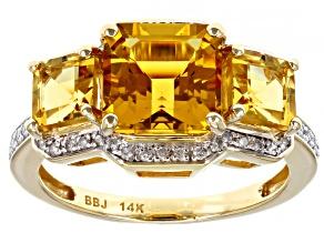 Yellow Beryl 14k Yellow Gold Ring 3.11ctw