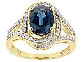 Teal Blue Chrome Kyanite 14k Yellow Gold Ring 2.22ctw