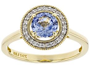 Blue Ceylon Sapphire 14k Yellow Gold Ring 0.94ctw