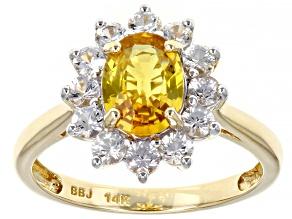 Yellow Sapphire 14k Yellow Gold Ring 2.14ctw