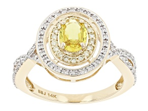 Yellow Sapphire 14k Yellow Gold  Ring 1.05ctw