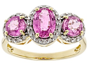 Pink Sapphire 14k Yellow Gold Ring 1.93ctw