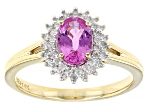 Pink Sapphire 14k Yellow Gold Ring 1.00ctw