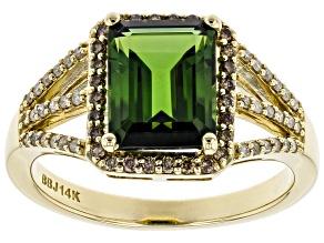 Green Tourmaline 14k Yellow Gold Ring 2.26ctw