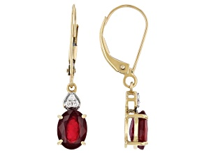 Red Mahaleo® Ruby 14k Yellow Gold Earrings 2.60ctw