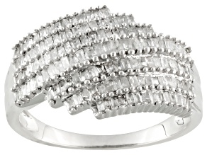 Diamond Silver Ring .88ctw