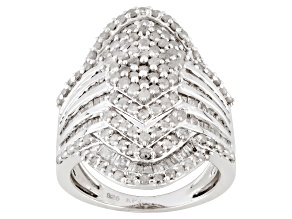 Diamond Sterling Silver Ring 2.26ctw