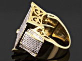 Diamond 14k Yellow Gold Over Sterling Silver Ring .60ctw