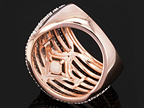 Diamond 14k Rose Gold Over Sterling Silver Band 1.00ctw