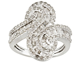 Diamond Sterling Silver Ring 1.25ctw