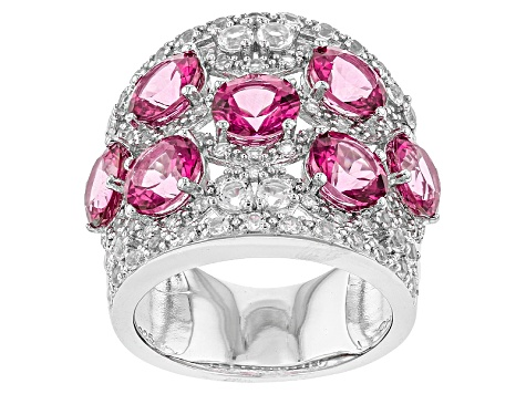 Pink Danburite Sterling Silver Ring 6.56ctw