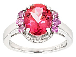 Pink Danburite Sterling Silver Ring 2.50ctw