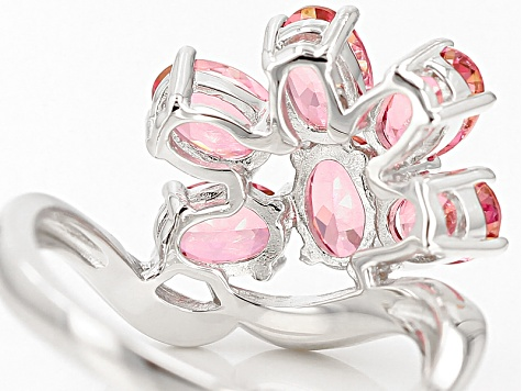 Pink Danburite Sterling Silver Ring 2.61ctw