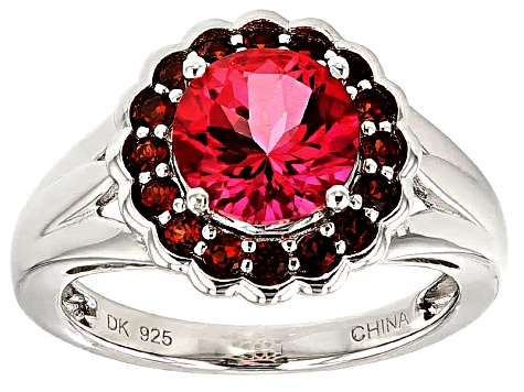 Pink Danburite Sterling Silver Ring 2.11ctw