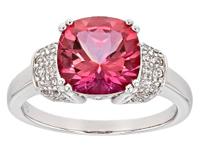 Pink Danburite Sterling Silver Ring 3.01ctw