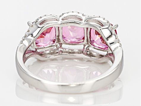 Pink Danburite Sterling Silver Ring 2.76ctw