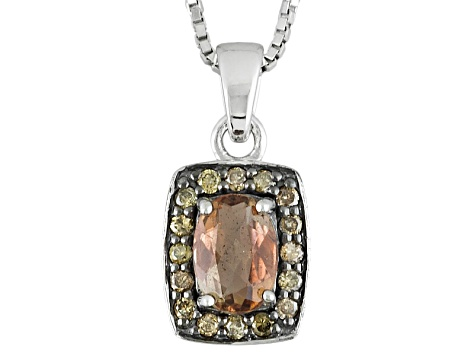 Brown Andalusite Sterling Silver Pendant With Chain .62ctw
