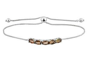 Brown Andalusite Sterling Silver Sliding Adjustable Bracelet 2.06ctw