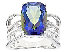 Odyssey Blue™ Mystic Quartz® Sterling Silver Ring 7.05ctw