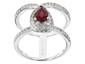 Mahaleo Ruby Sterling Silver Ring 1.39ctw