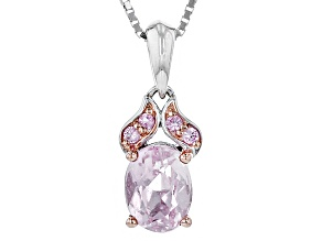 Pink Kunzite Sterling Silver Pendant With Chain 1.52ctw