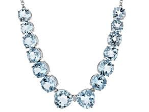 Sky Blue Topaz Sterling Silver Necklace 55.28ctw
