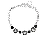 Gray Tourmalinated Quartz Sterling Silver Bracelet 4.60ctw