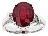 Mahaleo Ruby Sterling Silver Ring 6.11ctw