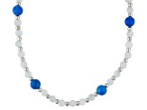 Blue Chalcedony Sterling Silver Strand Necklace