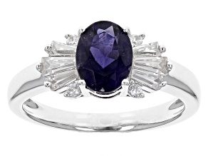 Purple Iolite Sterling Silver Ring 1.43ctw