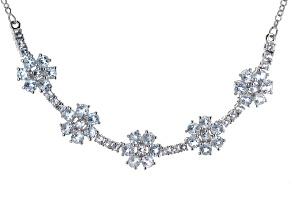 Sky Blue Topaz Sterling Silver Necklace 11.20ctw