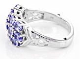 Blue Tanzanite Sterling Silver Ring 2.08ctw