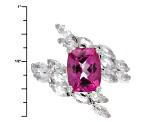 Pink Topaz Sterling Silver Ring 3.57ctw