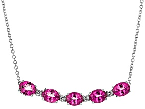 Pink Danburite Sterling Silver Necklace 7.89ctw