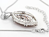 Red Garnet Sterling Silver Pendant With Chain 1.93ctw