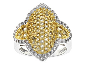Yellow Citrine Sterling Silver Ring 1.57ctw