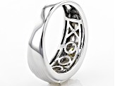 White Fabulite Strontium Titanate Sterling Silver Men's Ring 2.09ctw